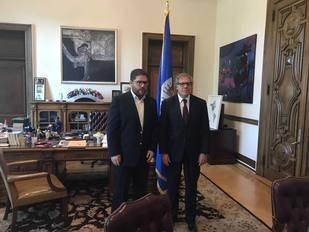 Almagro se reunió con el alcalde Gustavo Marcano