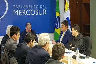 Diputados venezolanos reciben al presidente del Parlasur