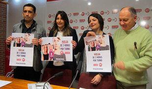UGT y CCOO animan a participar en la huelga general del 8 de marzo para demostrar que sin la mujer el mundo se pararía
