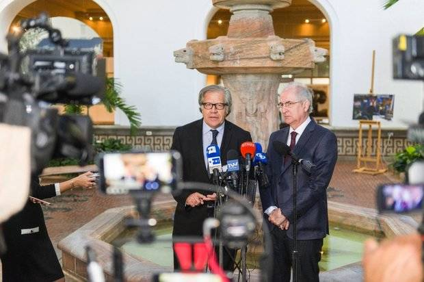 Almagro se reunió este martes con Ledezma en la OEA