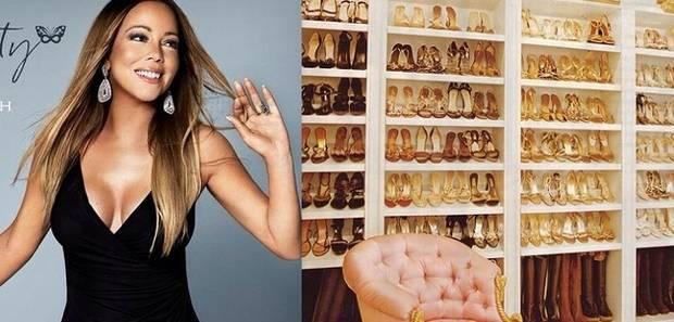 Mariah Carey presume su colección de más de mil pares de zapatos