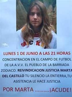 Una concentración recuerda este lunes a Marta del Castillo