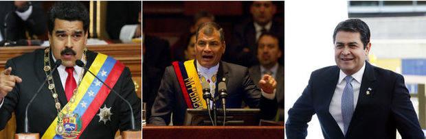 Maduro, Correa y Hernández, en una lista de dirigentes que denigran la prensa