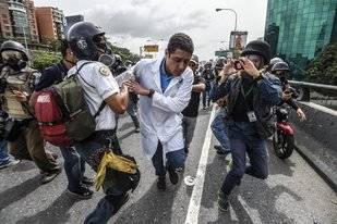 28 heridos por represión en el sureste de Caracas