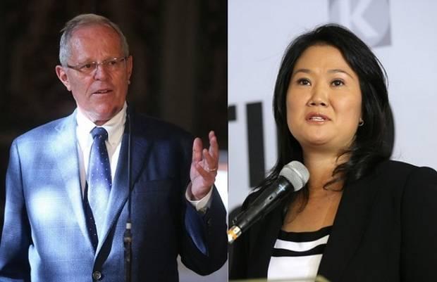 Kuczynski supera a Fujimori por 0,25 % de votos, tras ser escrutado el 98,3 %