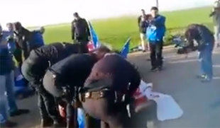 La policía disuelve una sentada sindical a las puertas de la cárcel de Valladolid