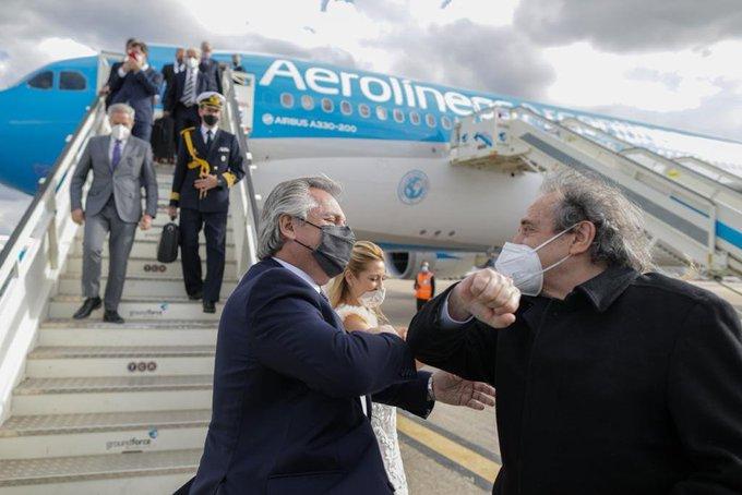 Tras su paso por Portugal, Alberto Fernández ya se encuentra en España