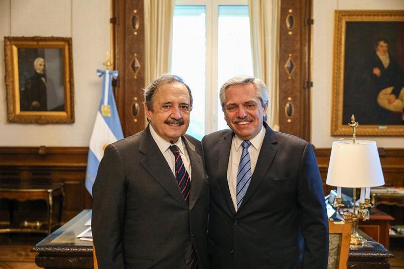 Alberto Fernández recibió a Ricardo Alfonsín, flamante embajador argentino en España
