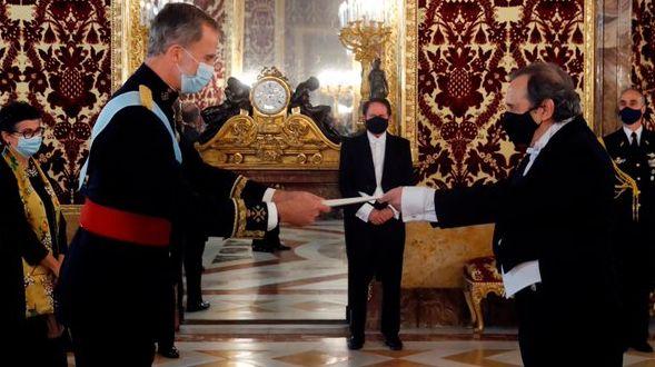 Ricardo Alfonsín presentó sus cartas credenciales ante el Rey de España Felipe VI