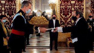 Alfonsín presentó sus cartas credenciales ante el Rey de España Felipe VI