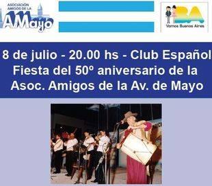 La Asociación Amigos de la Avenida de Mayo festeja sus 50 años de vida