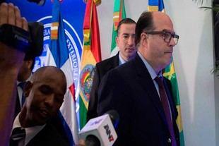 Oposición llegó a la cancillería dominicana para continuar diálogo