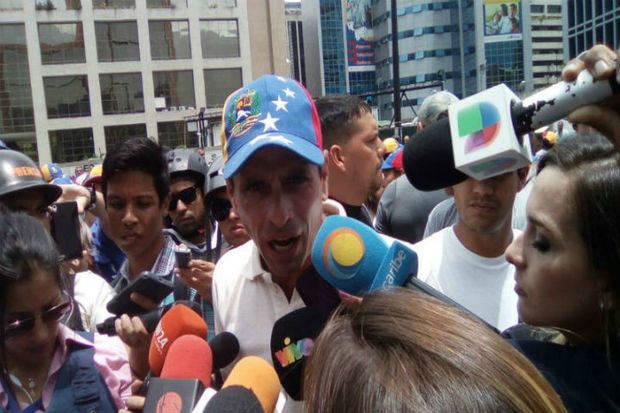 Capriles reiteró que la abstención al voto no castigará a ningún partido político