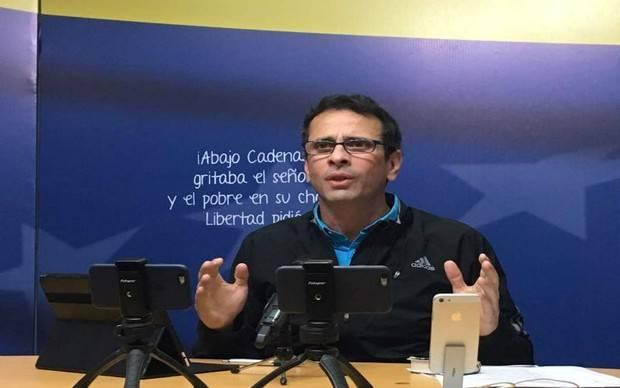 Capriles indicó que la oposición tendrá solo un candidato presidencial electo por primarias