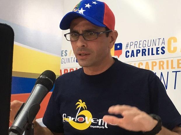 Capriles denuncia Gobierno venezolano planea allanamientos para evitar marcha