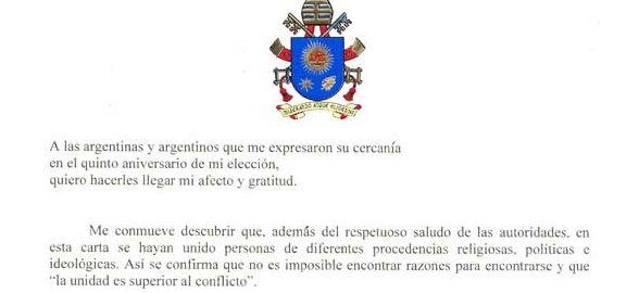 El Papa Francisco le pidió perdón a los argentinos que se sintieron ofendidos por alguno de sus gestos