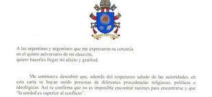 El Papa Francisco le pidió perdón a los argentinos