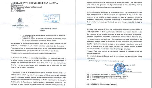 El alcalde de Pajares de la Laguna pide disculpas y argumenta que la carta no es