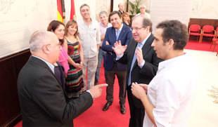 Herrera y la nueva cúpula autonómica de CCOO repasan temas de actualidad laboral en un encuentro