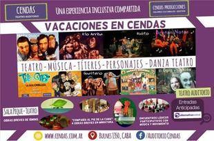 El Auditorio CENDAS con propuestas para los chicos en estas vacaciones
