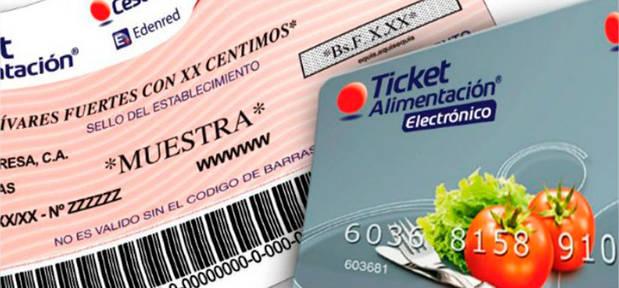 Ticket de alimentación podrá ser pagado en papel o tarjeta electrónica