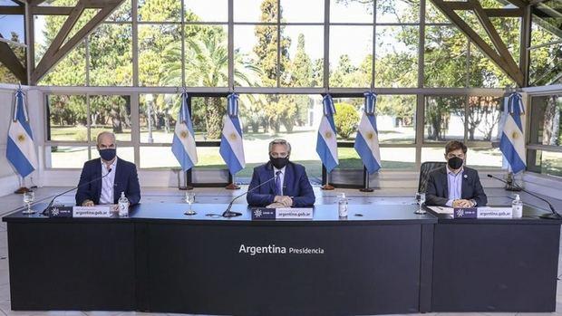 Alberto, Kicillof y Larreta en una nueva extensión de la cuarentena