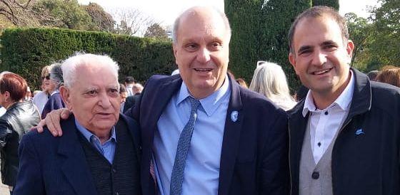 El presidente de la Federación de Sociedades Españolas fue invitado al locro patrio en la Quinta de Olivos