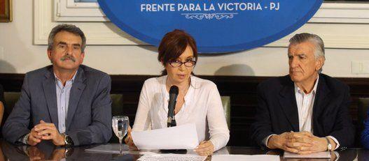 """El peronismo se mostró unido y rechazó la """"persecución"""" del juez Bonadío"""
