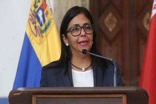 Delcy Rodríguez expresó que la única vía para consolidar la paz es el diálogo