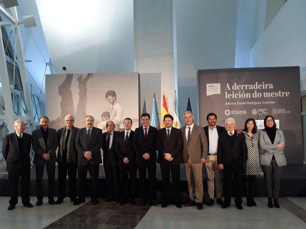 Se firmó el acuerdo para exponer por primera vez en Galicia la 'Derradeira leición do mestre' de Castelao