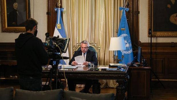 En su discurso ante la ONU el presidente Alberto Fernández llamó a 'globalizar la solidaridad'