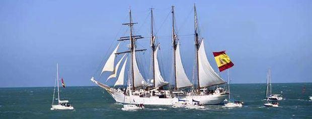 El buque-escuela, de la Armada española, 'Juan Sebastián de Elcano' hará escala en Buenos Aires y Mar de Plata.