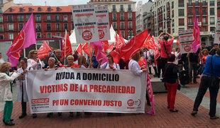 Trabajadores del sector de la ayuda a domicilio piden a la patronal salir del 'inmovilismo' y anuncian paros totales