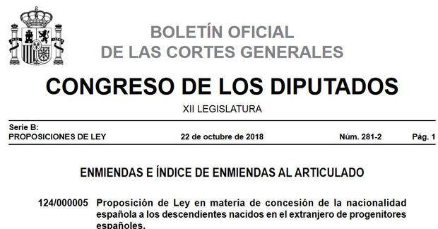 """El CRE Buenos Aires manifestó su """"total disconformidad"""" a las enmiendas presentadas por el PSOE a la Ley de Nacionalidad"""