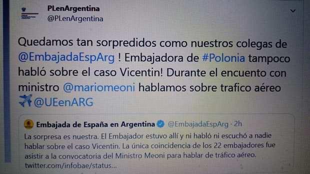 Desde la Embajada de España desmintieron nota de Infobae en la que se informaba preocupación por Vicentín