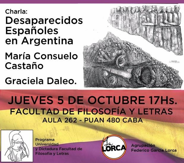 Charla sobre desaparecidos españoles en Argentina