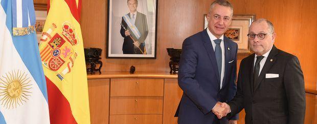 Faurie recibió al Presidente del Gobierno Vasco Iñigo Urkullu Rentería