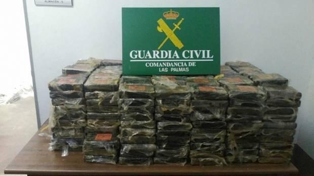 Detienen en Canarias a un argentino con 470 kilos de cocaína