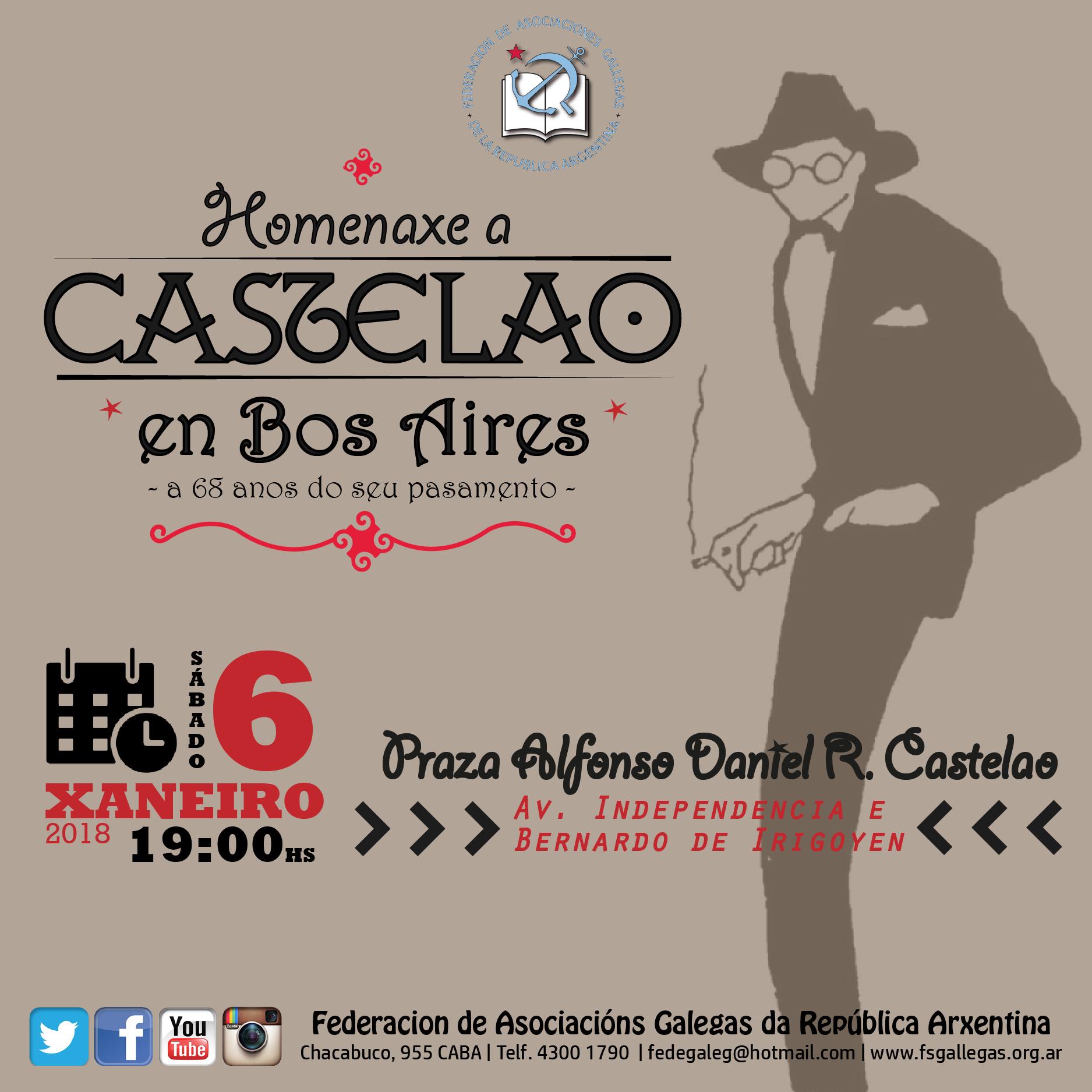 Homenaje a Castelao en el 68 aniversario de su muerte