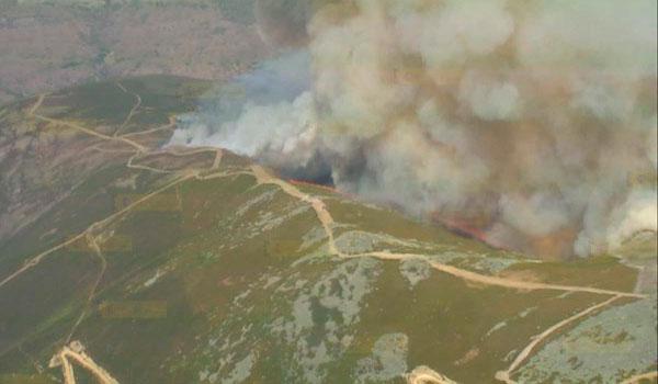 Declarado el nivel 1 por la simultaneidad de incendios forestales en la provincia de León