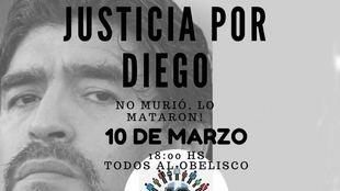 LLega la marcha de pedido de justicia por la muerte de Maradona