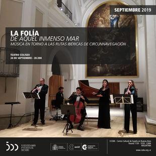 Este martes La Folía se presenta en el Teatro Coliseo