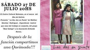 """""""Las Dos en Punto"""" se presentará en el Centro Betanzos"""