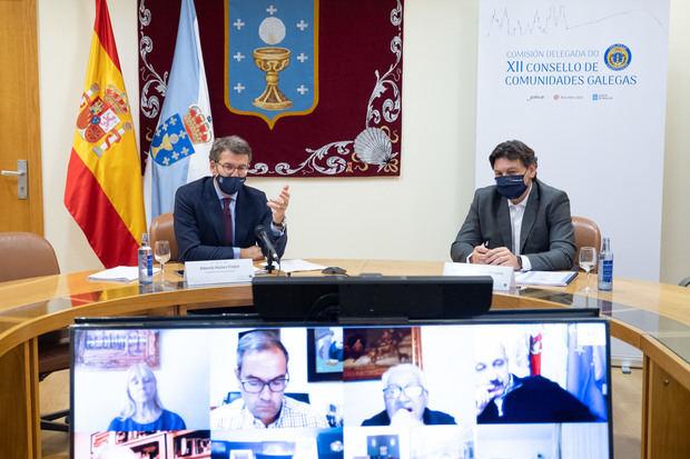 La Xunta convoca la Comisión Delegada del Consello de Comunidades Galegas para el próximo 22 de octubre