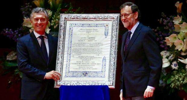 Rajoy visitará Argentina en abril