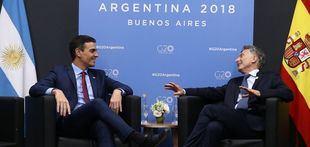 Macri y Sánchez tuvieron su encuentro bilateral sin ningún anuncio oficial