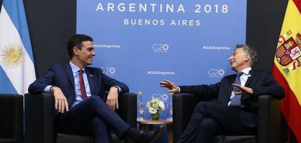Sin anuncios oficiales, Macri y Sánchez tuvieron su encuentro en el que resaltaron el buen momento de la relación bilateral