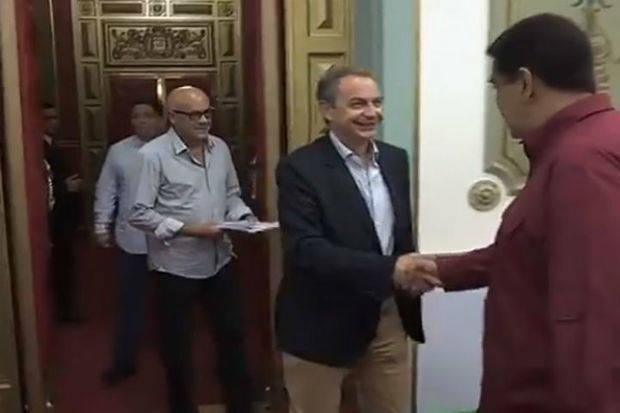 Presidente Maduro recibió a Rodríguez Zapatero en Caracas
