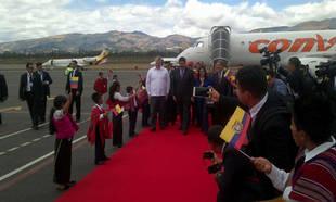 Maduro llegó a Ecuador para encuentro con Santos