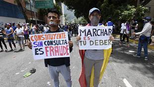 Oposición marchará el miércoles hacia el CNE contra la Constituyente